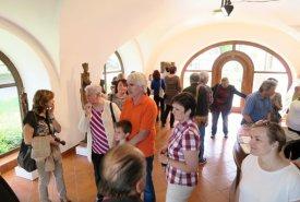Vernisáž nové expozice sochaře Lubomíra Šilara, která se otevřela 21. 5. 2016.