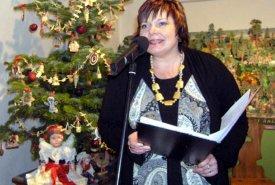 Fotografie paní Jiřiny Strakové a pana Radka Lepky z vernisáže výstavy Vánoce dříve a dnes a doprovodných akcí, vernisáž se konala v sobotu 28. 11. 2009.