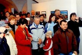 Fotografie z vernisáže fotografií Jany Vokálové s názvem Lanškroun jako na dlani